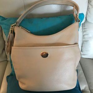 Tommy Hilfiger Pebbled Leather Bucket Bag
